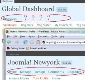 WordPress Dashboard Mystery
